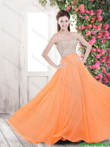Cheap Lovely Elegant Empire Brush Train Prom Dresses with Beading