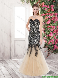 New Arrivals Popular Mermaid Sweetheart Prom Dresses with Lace and Beading