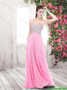 Perfect Pretty Cheap Beaded Sweetheart Prom Dresses in Rose Pink