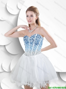 Beautiful Fashionable Discount White Sweetheart Prom Dresses with Beading