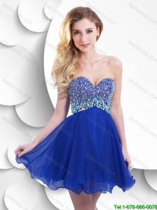 Beautiful Fashionable Hot Sale Short Prom Dresses with Beading for 2016
