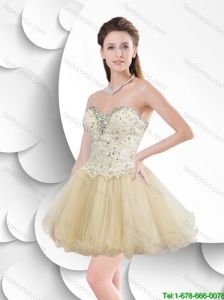 Beautiful Fashionable  Popular A Line Prom Dresses with Beading and Appliques
