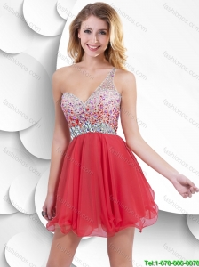 Best Selling Beautiful Beaded Short Prom Dresses with Criss Cross