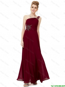 Discount Empire One Shoulder Appliques Prom Dresses