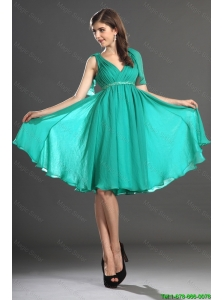 2015 Custom Made Beading and Ruching Prom Dresses in Turquoise