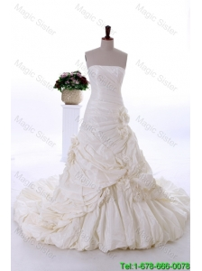 Most Popular A Line Strapless Wedding Dresses