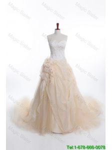 Affordable A Line Sweetheart Wedding Dresses with Appliques