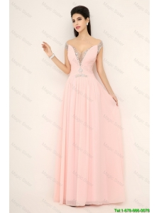 Beautiful Off the Shoulder Prom Dresses with Cap Sleeves
