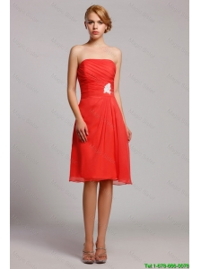 New Style Appliques Short Prom Dresses in Orange Red