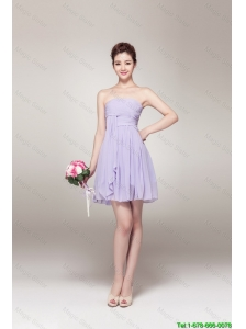 New Style Strapless Prom Gowns with Mini Length