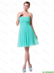 New Arrivals Strapless Mini Length Prom Dresses in Turquoise