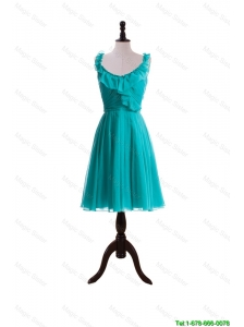 Pretty 2015 Summer A Line Scoop Prom Dresses with Paillette in Turquoise