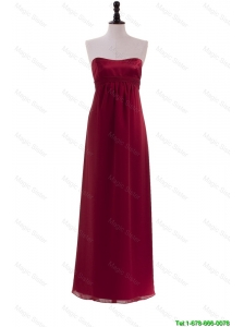 Cheap New Style Ruching Wine Red Prom Dresses for 2016