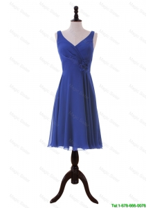 Cheap Royal Blue Hand Made Flower Short Prom Dresses for Holiday