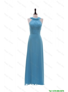 Pretty Inexpensive Empire Ruching Long Prom Dresses for Homecoming
