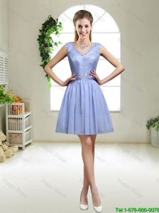 Discount V Neck Bridesmaid Dresses with Appliques and Sequins