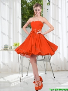 Custom Made Sweetheart Short Bridesmaid Dress with Belt