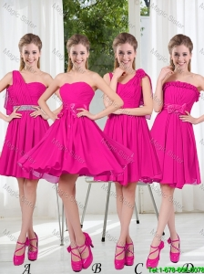 2016 Spring A Line Short Bridesmaid  Dresses with Ruching