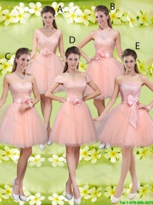 Suitable A Line Hand Made Flowers Bridesmaid Dresses with Appliques