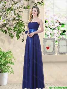 Discount Sweetheart Floor Length Prom Dresses with Sash