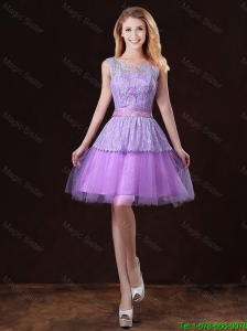 Luxurious Scoop Prom Dresses with Appliques and Belt