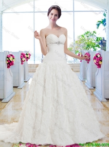 Best Selling Sweetheart Beaded Wedding Gowns for Garden