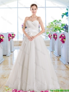 Exquisite Appliques Sweetheart Bridal Dresses with A Line