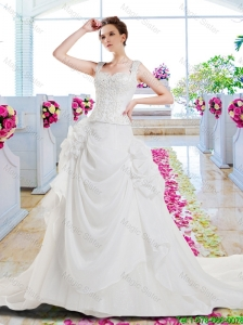 Gorgeous A Line Appliques Wedding Dresses with Off the Shoulder