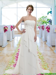 New Arrivals Empire Strapless Wedding Gowns with A Line