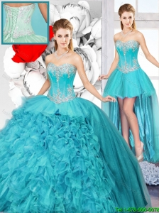 Best Selling Sweetheart Detachable Quinceanera Gowns with Beading