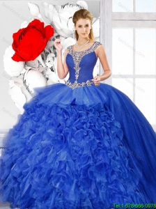 New Arrivals Scoop Quinceanera Dresses with Side Zipper