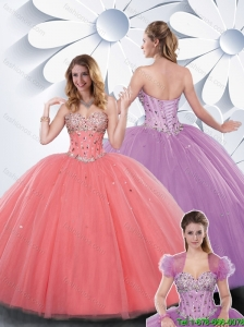 Cheap Ball Gown Beading Quinceanera Dresses with Sweetheart