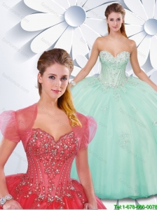Exclusive Sweetheart Appliques and Beading Quinceanera Dresses
