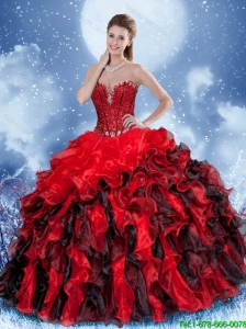 Cute Ball Gown Beading Sweet 16 Dresses in Multi Color