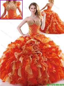 Cute Multi Color Sweet 16 Dresses with Bowknot and Ruffles