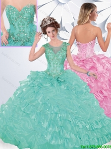 Exclusive Appliques and Ruffles Sweet 16 Dresses with Lace Up