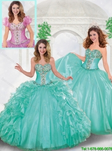 Perfect Puffy Beading Quinceanera Gowns with Sweetheart