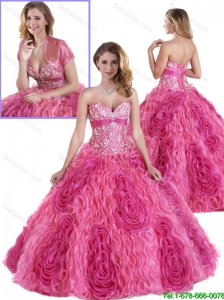 Perfect Rolling Flowers Quinceanera Gowns in Multi Color