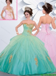Perfect Sweetheart Quinceanera Gowns with Beading and Appliques