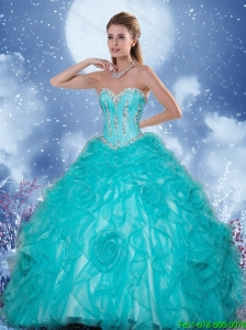 Popular Sweetheart Quinceanera Gowns with Beading and Ruffles