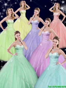The Most Popular Sweetheart Quinceanera Dresses with Beading