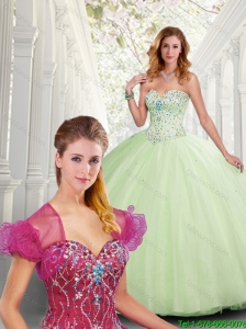 2016 Perfect Beading Sweetheart Quinceanera Dresses