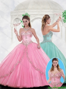 Beautiful Sweetheart Tulle Quinceanera Dresses with Beading 231.52