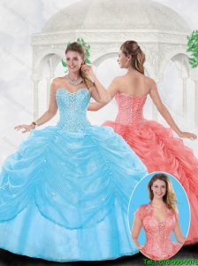 Fashionable Ball Gown Sweetheart Quinceanera Dresses with Beading