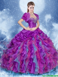 Gorgeous Beading Multi Color Quinceanera Dresses with Sweetheart