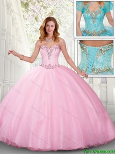 Popular Sweetheart Ball Gown Sweet 16 Dresses with Beading