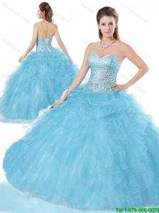 Beautiful Beading and Ruffles Quinceanera Dresses for 2016 Spring