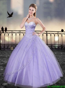 2016 Popular Beading Lavender Sweetheart Quinceanera Gowns