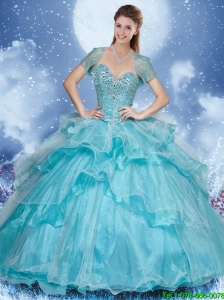 Fashionable Sweetheart Quinceanera Dresses with Beading and Ruffles