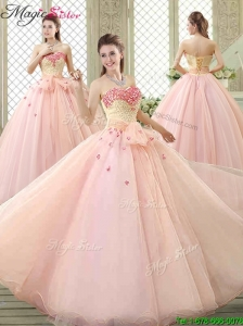 Popular Sweetheart Beading Quinceanera Dresses with Bowknot and Appliques